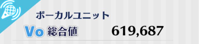 ボーカルユニット(青)ステータス